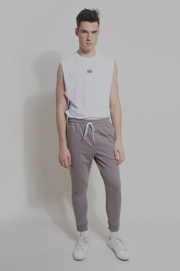 Premium Threads Slim Track Pants With Contrast Taping
