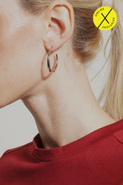 Mini Hollow Hoop Earring