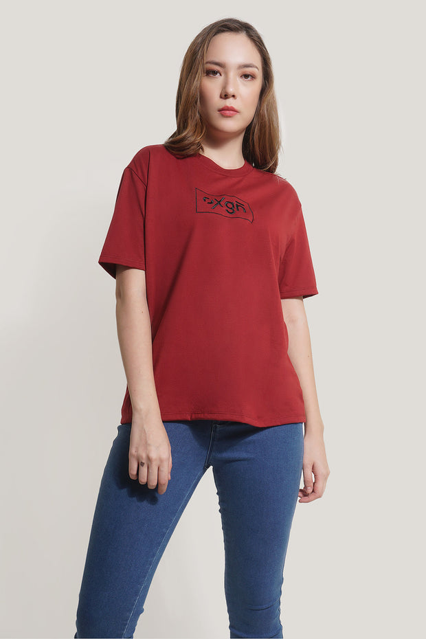 OXGN Oversized Fit Tee With Embroidery