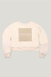 Premium Threads Cropped Pullover With Special Print