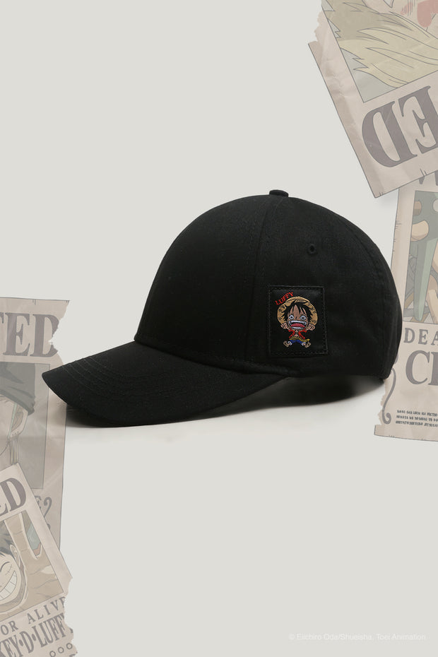 One Piece x OXGN Curved Cap With Luffy Patch Embroidery