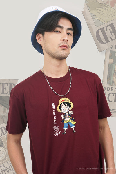 One Piece x OXGN Easy Fit Tee With Luffy Special Print