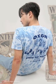 One Piece x OXGN Tie-Dye Tee With Straw Hat Crew Graphic Print