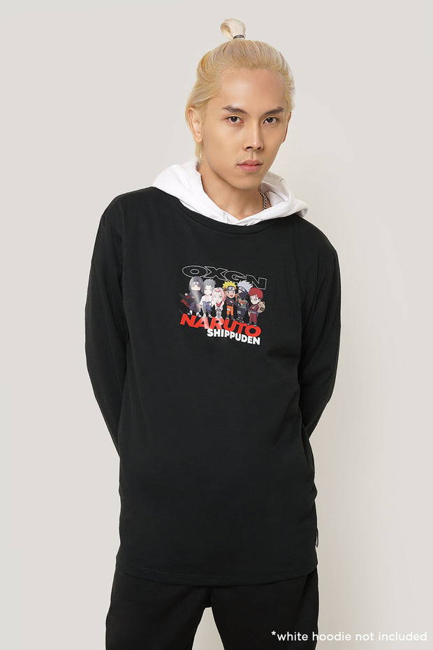 Naruto Shippuden x OXGN Long Sleeves Tee With Graphic Print