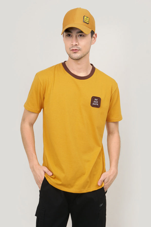 Pure Optimist No Bad Days Easy Fit Tee with Velcro Patch