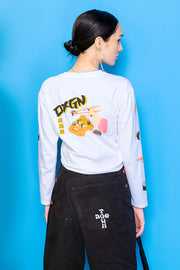 Sushi Long Sleeved Regular Fit Tee With Graphic Print