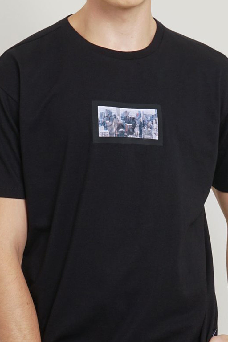 OXGN Easy Fit Tee With Embossed Print