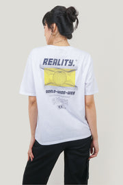 Reality Oversized Fit Tee With Graphic Print