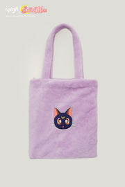 OXGN x Pretty Guardian Sailor Moon Luna Fur Tote Bag