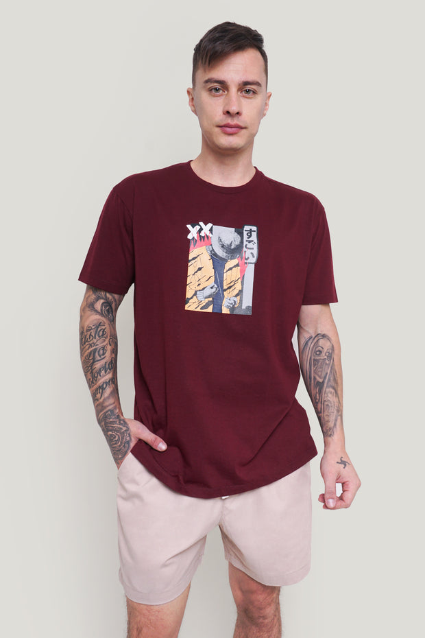 Doodle Easy Fit Tee With Special Print