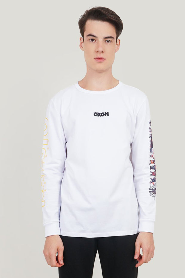Naruto Shippuden x OXGN Long Sleeve Tee With Graphic Print