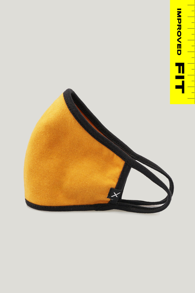 Mustard Face Mask with Filter Pocket