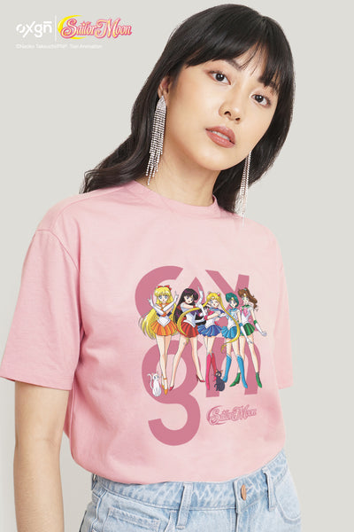 OXGN x Pretty Guardian Sailor Moon Sailor Guardians Oversized Graphic Tee