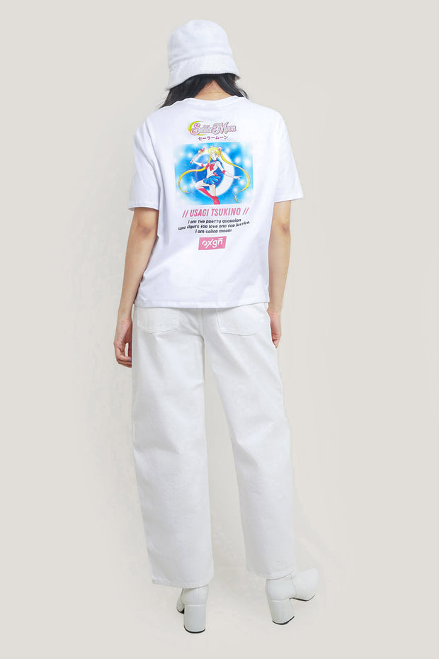 OXGN x Pretty Guardian Sailor Moon Crystal Star Compact Oversized T-Shirt With Backprint