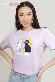 OXGN x Pretty Guardian Sailor Moon Luna and Artemis Boxy Graphic T-Shirt