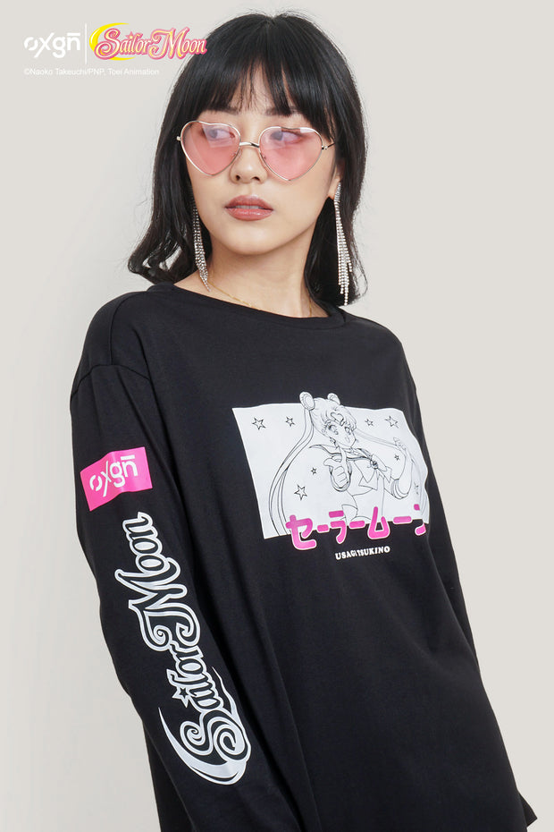 OXGN x Pretty Guardian Sailor Moon Long-sleeved Graphic Dress