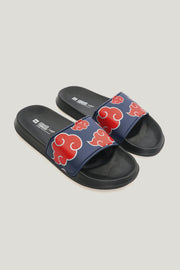 Men's Naruto Shippuden x OXGN Single Band Sliders With All Over Print