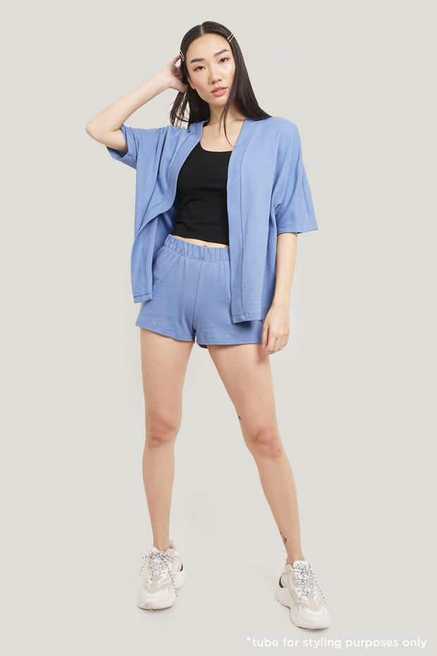 Robe And Shorts Sleepwear Set