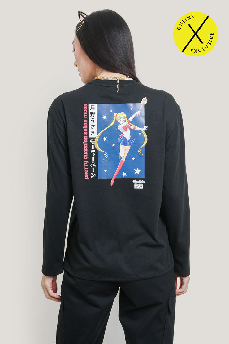 Limited Edition OXGN x Pretty Guardian Sailor Moon Long-sleeved T-Shirt With Backprint