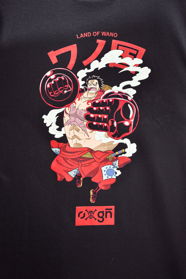 One Piece x OXGN Luffy Easy Fit Tee With Graphic Print