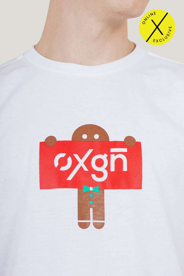 Gingerbread Man Holiday Logo Tee