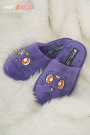 OXGN x Pretty Guardian Sailor Moon Luna Fur Bedroom Slippers
