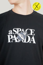 A Space Panda Mascot Easy Fit Tee With Special Print