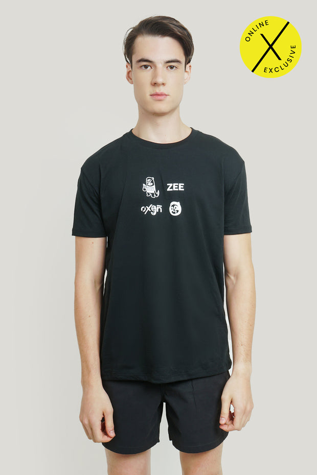 Slack Off More Mascot Easy Fit Tee With Special Print