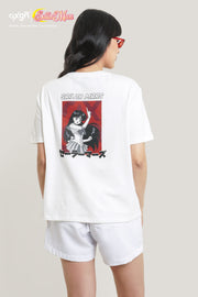 OXGN x Pretty Guardian Sailor Moon Sailor Mars Oversized Graphic T-Shirt with Backprint