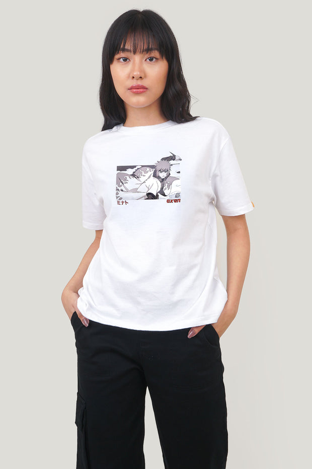 Naruto Shippuden x OXGN Minato Oversized Fit Tee With Graphic Print
