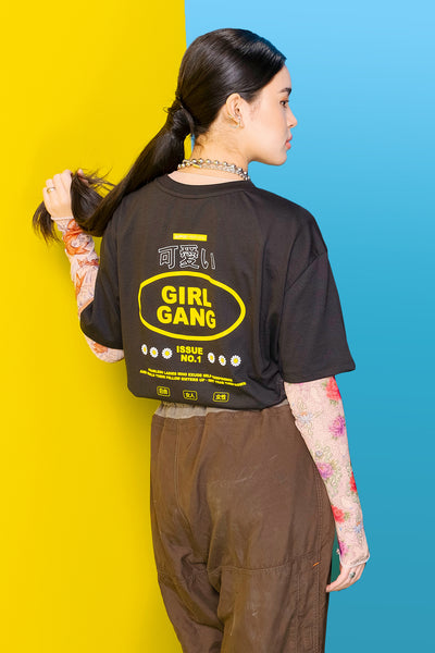 Girl Gang Oversized Fit Tee With Graphic Print