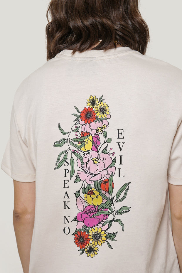 Speak No Evil Floral Oversized Graphic Tee