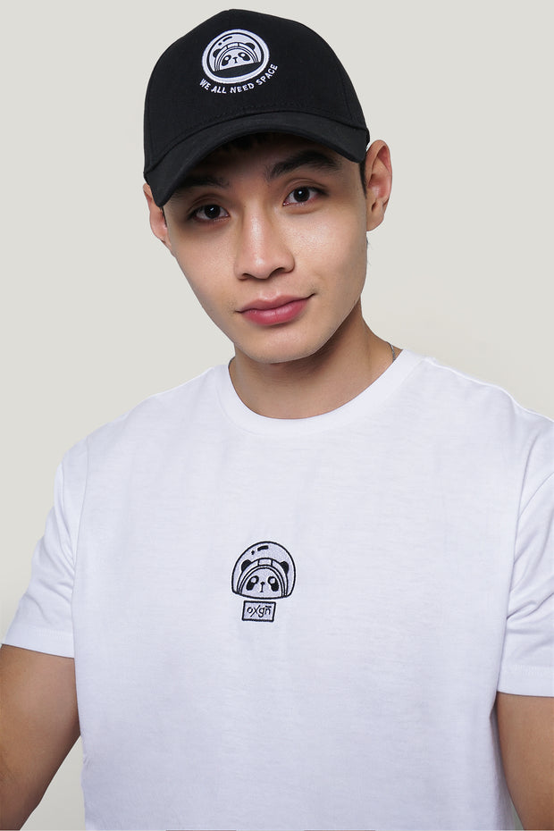 Space Panda Easy Fit Tee With Embroidery