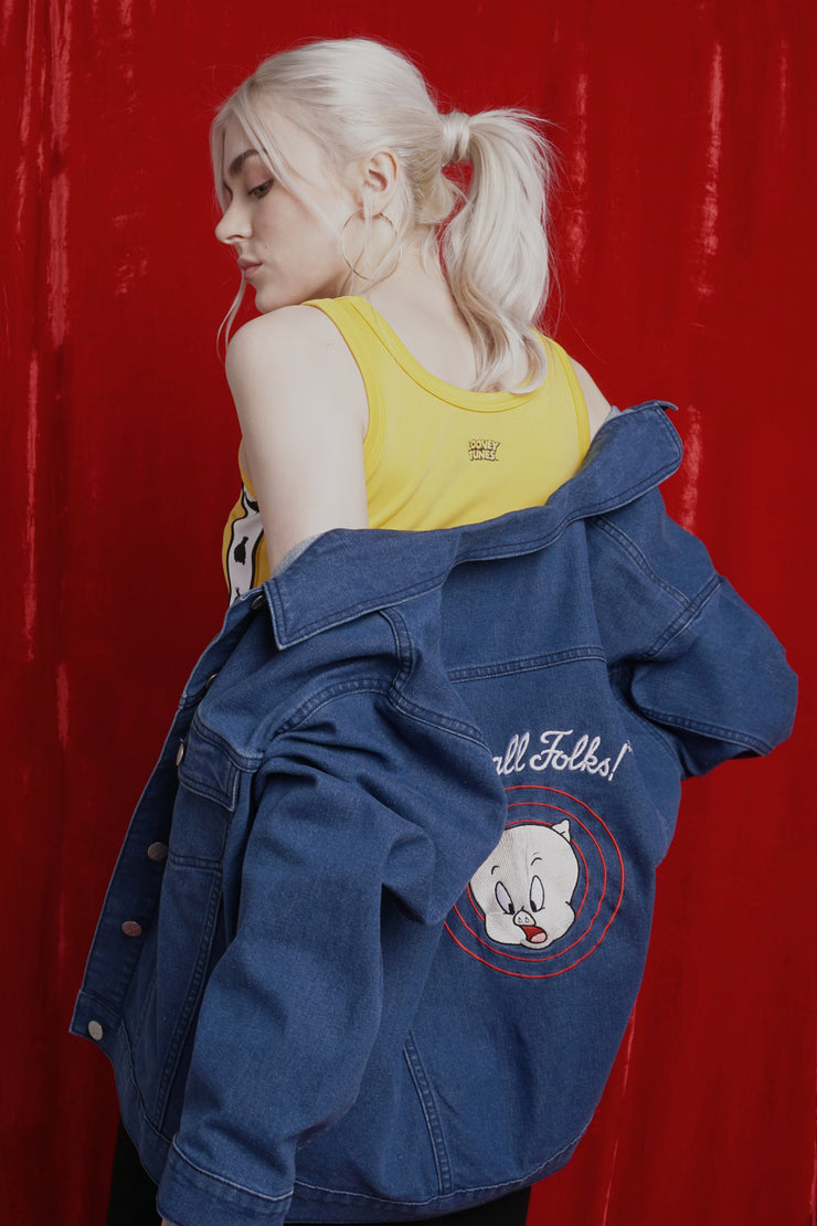 Looney Tunes Denim Jacket With Embroidery