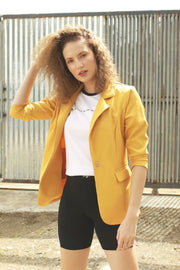Blazer With Button Closure