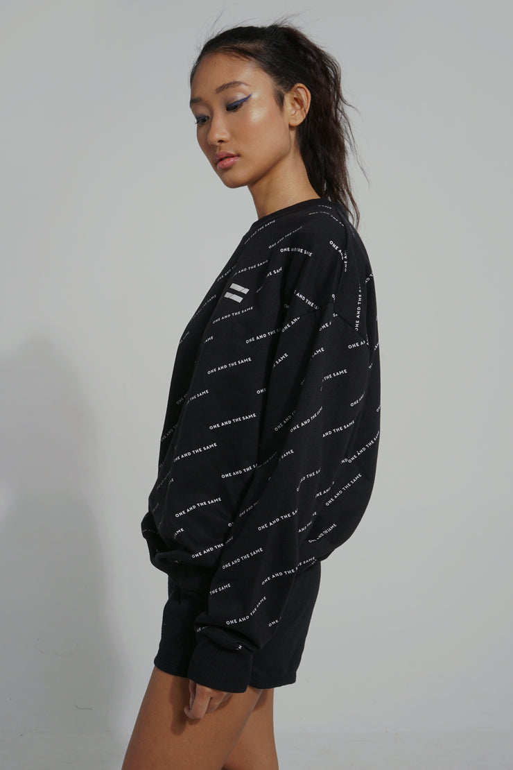 COED French Terry Pullover With All-Over Print