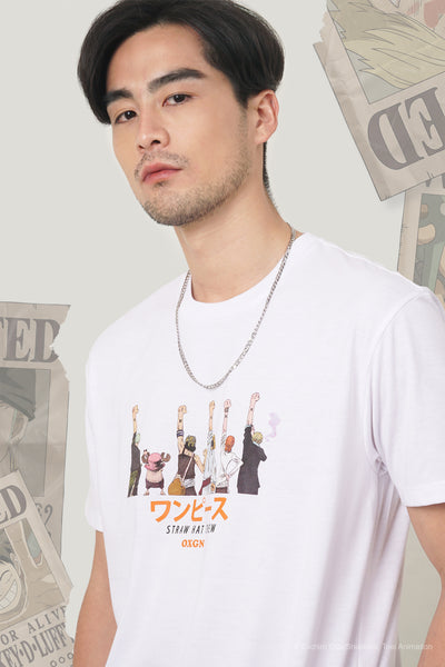 One Piece x OXGN Easy Fit Tee With Straw Hat Crew Special Print