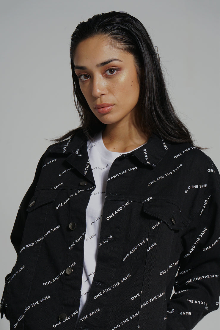 COED Denim Jacket With All-Over Print