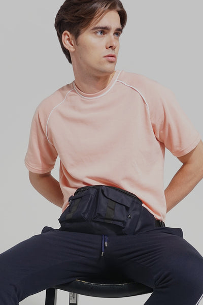 Premium Threads Boxy Fit Tee with Piping