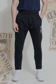 One Piece Slim Tapered Track Pants With Graphic Print