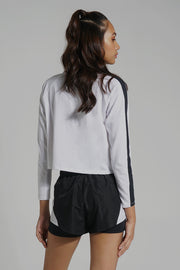 Premium Threads Boxy Tee With Contrast Sleeve Taping
