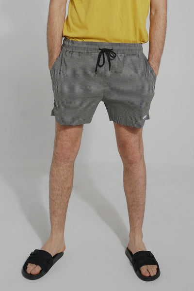 Mid Rise Patterned Woven Shorts