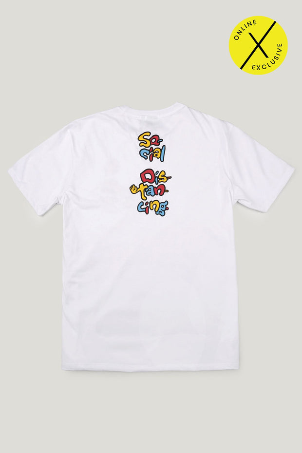 Social Distancing Regular Fit Tee with Graphic Print