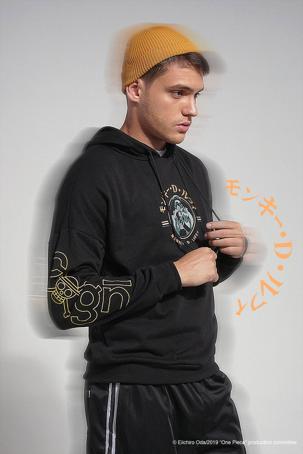 One Piece Stampede Hoodie With Embroidery