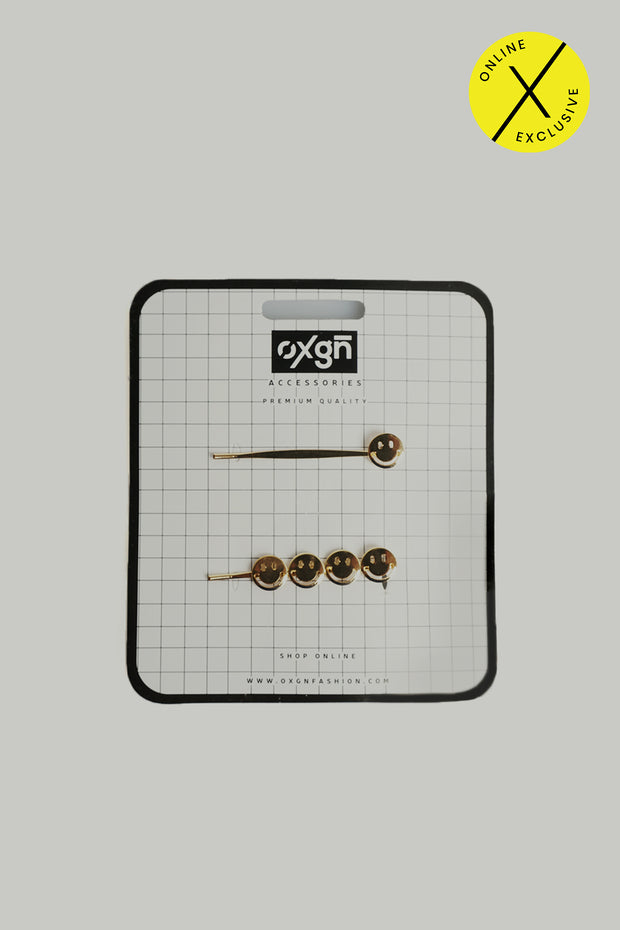 Smileys Hair Pins Set