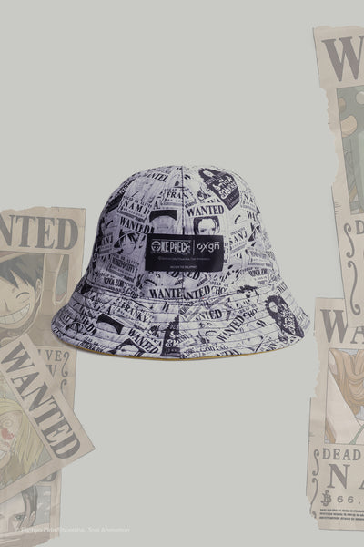 One Piece Reversible Bucket Hat With All Over Print
