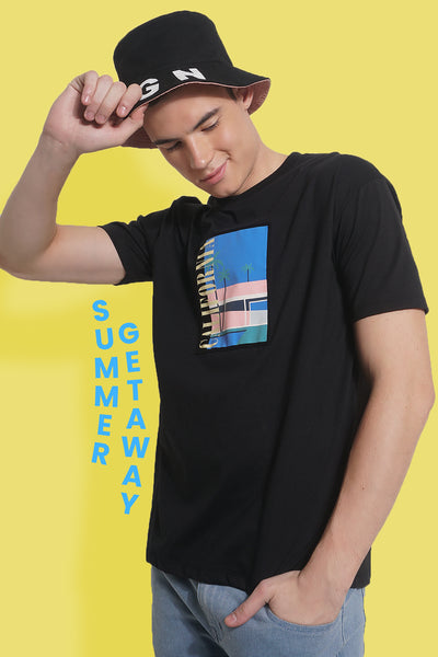 California Easy Fit Tee With Graphic Print