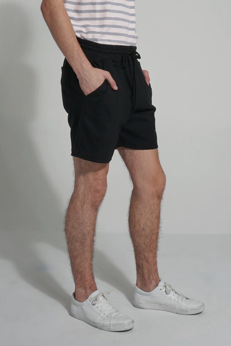 Mid Rise Knit Shorts