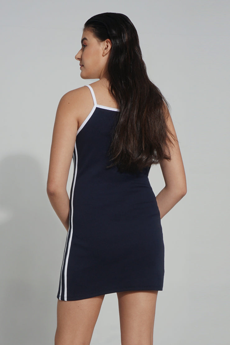 Premium Threads Bodycon Dress With Contrast Trimmings