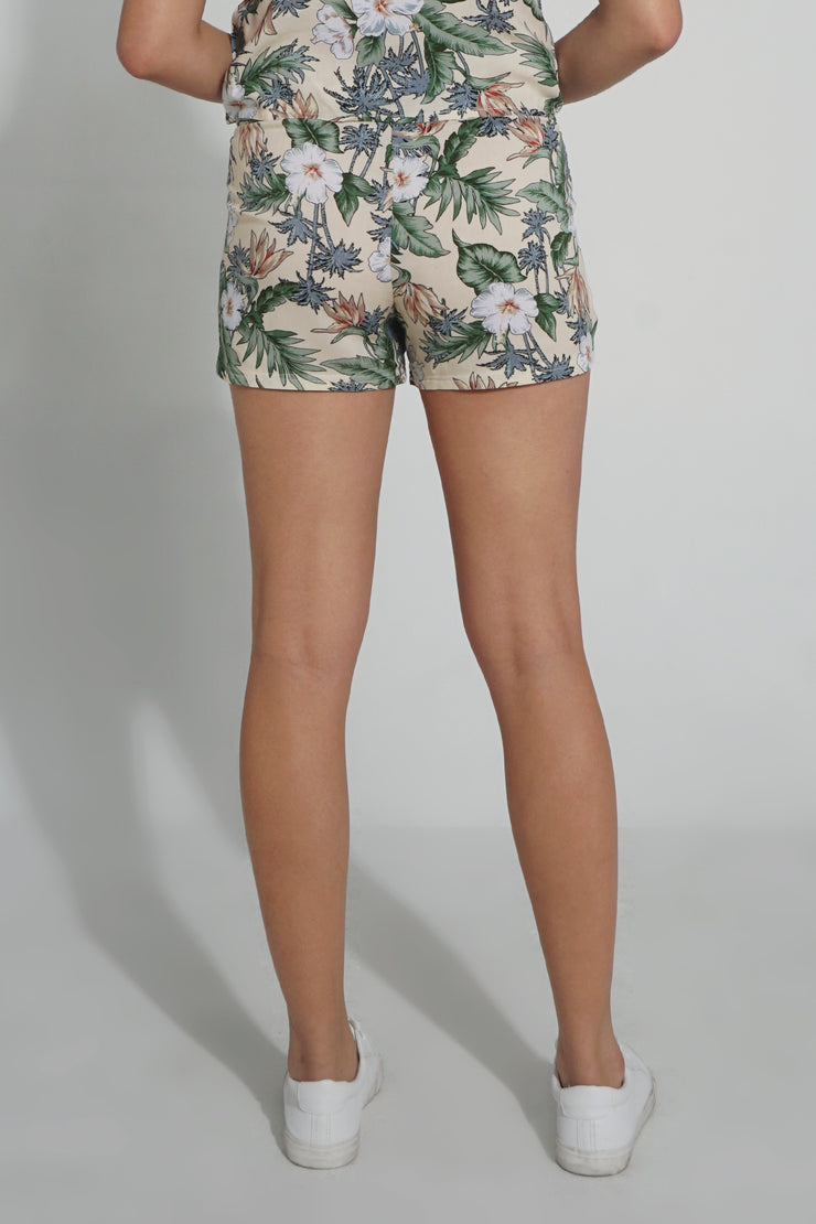 Fashion Shorts with All Over Print